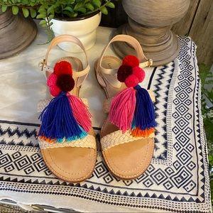 Kate Spade ♠️ Sunset woven tassel sandal